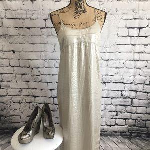 Calvin Klein Metallic Silky Slip Dress
